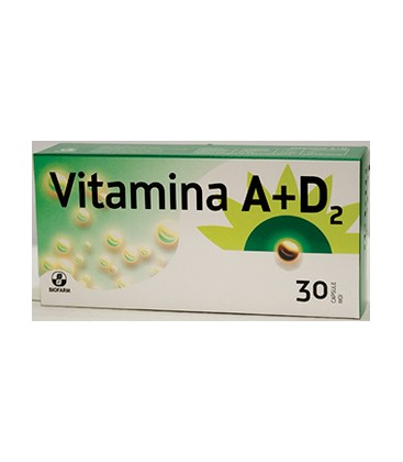 Vitamina A + D2 x 30cps Cutie  BIOFARM