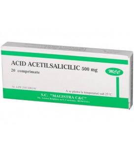 ACID ACETILSALICILIC 500 mg X 20 COMPR.