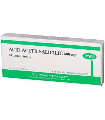 ACID ACETILSALICILIC 500 mg X 20 COMPR. 500mg MAGISTRA