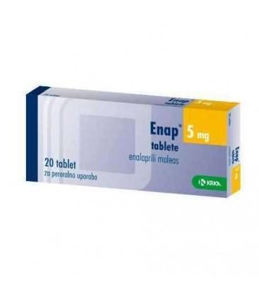 ENAP 5 mg X 20 COMPR