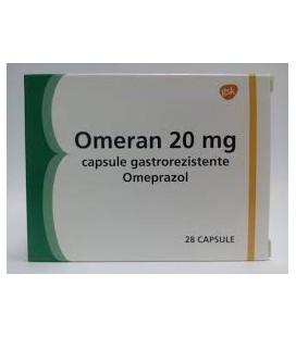 OMERAN 20 mg X 28 CAPS. GASTROREZ.