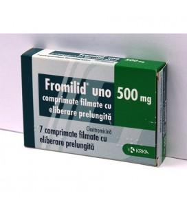 FROMILID UNO 500mg  X 7 COMPR. FILM. ELIB. PREL.