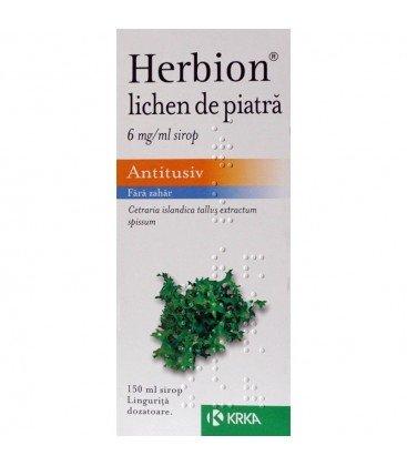 HERBION LICHEN DE PIATRA 6 mg/ml X 1 SIROP