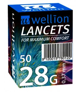 Lancete Wellion 28g x 50buc