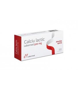 Calciu lactic 500mg x 20cp (Labormed)   LABORMED