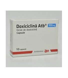 DOXICICLINA ATB 100 mg X 10 CAPS.