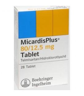 MICARDISPLUS 80/12,5mg X 28 COMPR. 80/12,5mg