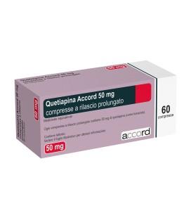 QUETIAPINA ACCORD 50 mg X 60 COMPR. ELIB. PREL.