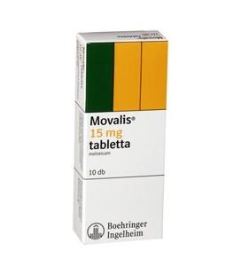 MOVALIS (R) 15 mg X 10 COMPR. 15mg