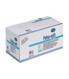 PEHA-SOFT Nitrile manusi examinare albe marimea M  x 100buc