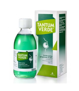 TANTUM VERDE SOLUTIE GARGARISME 0,15% X 240ML