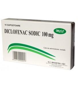 DICLOFENAC SODIC 100 mg X 10 SUPOZ. 100mg MAGISTRA
