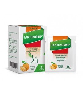 TANTUMGRIP CU GUST DE PORTOCALA 600 mg/10 mg X 10 PULB. PT. SOL. ORALA