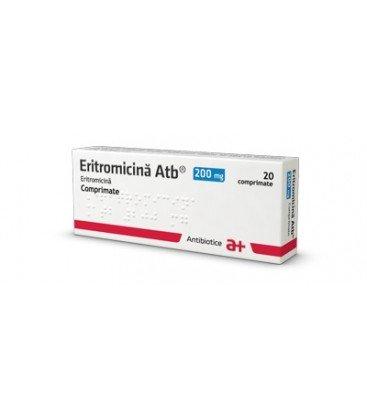 ERITROMICINA ATB 200 mg X 20 COMPR.