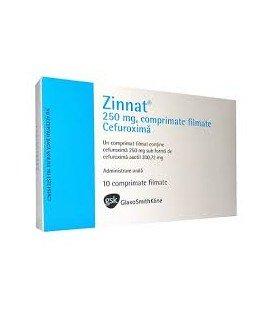 ZINNAT (R) 250 mg X 10 COMPR. FILM. 250mg GSK RX