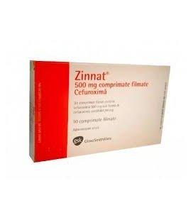 ZINNAT (R) 500 mg X 10 COMPR. FILM. 500mg GSK RX
