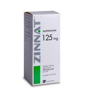 ZINNAT 125 mg/5 ml x 1 GRAN. PT. SUSP. ORALA 125mg/5ml GLAXOSMITHKLINE  IRE