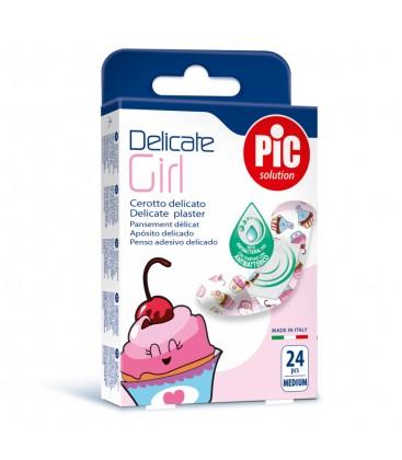 PIC Plasturi piele sensibila Delicate Girl x 24buc