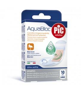 PIC Plasturi rezistenti la apa 25x72mm cu solutie antibacteriana x 10 buc