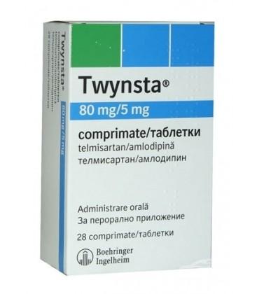 TWYNSTA 80 mg/5 mg X 28 COMPR. 80 mg/5 mg