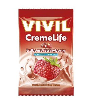 VIVIL Creme Life Classic capsuni fara zahar x 110g