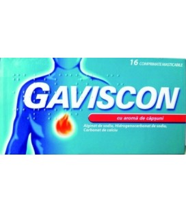 GAVISCON CU AROMA DE CAPSUNI X 16 COMPR. MAST.