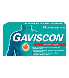 GAVISCON CU AROMA DE CAPSUNI X 24 COMPR. MAST.