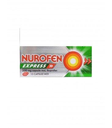NUROFEN EXPRESS 200 mg X 10 CAPS. MOI