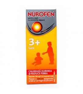 NUROFEN PENTRU COPII, cu aroma de capsuni X 1 SUSP. ORALA 100mg/5ml