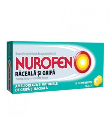 NUROFEN RACEALA SI GRIPA 200 mg/30 mg X 12 COMPR.