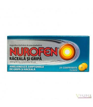 NUROFEN RACEALA SI GRIPA 200 mg/30 mg X 24 COMPR.