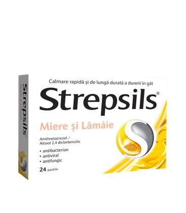 STREPSILS  MIERE  LAMIE X 24 PASTILE