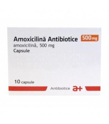 AMOXICILINA ANTIBIOTICE 500 mg X 10 CAPS