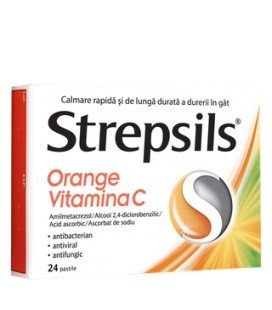 STREPSILS ORANGE VITAMINA C X 24 PASTILE