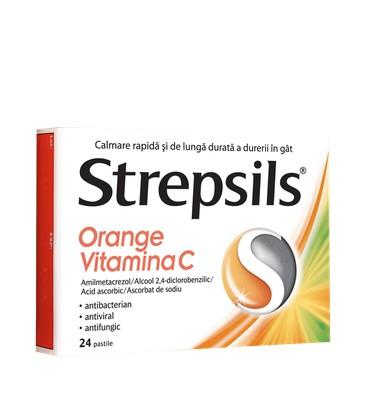 STREPSILS ORANGE VITAMINA C X 24 PASTILE