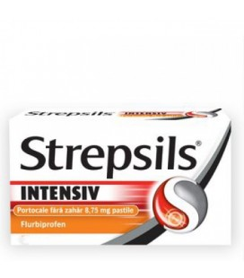 STREPSILS Intensive portocale x 16 PASTILE