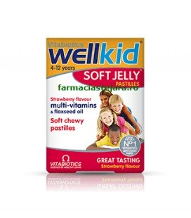 WELLKID Soft Jelly capsuni x 30 cp  PRISUM