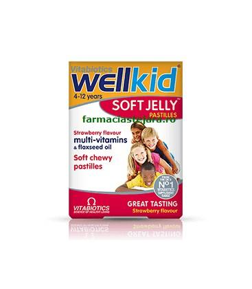 WELLKID Soft Jelly capsuni x 30 cp  PRISUM