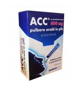 ACC CU AROMA DE MURE 600 mg x 10 PULBERE ORALA IN PLIC