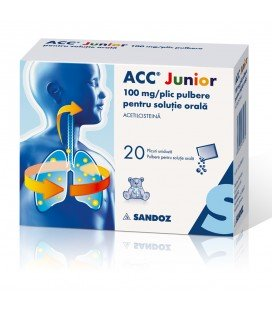 ACC JUNIOR 100 mg X 20 PULB. PT. SOL. ORALA