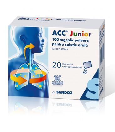 ACC JUNIOR 100 mg X 20 PULB. PT. SOL. ORALA