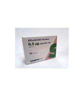 ALFACALCIDOL SANDOZ 0,5 mcg X 30 CAPS. MOI