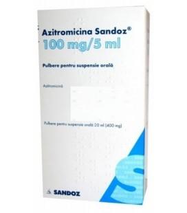 AZITROMICINA SANDOZ 100 mg/5 ml X 1 PULB. PT. SUSP. ORALA