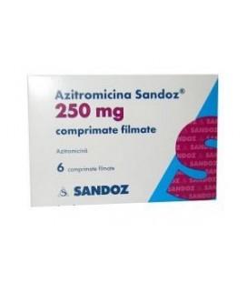 AZITROMICINA SANDOZ 250 mg COMPRIMATE FILMATE X 6 COMPR