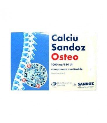 CALCIU SANDOZ OSTEO 1000 mg/880 UI X 30 COMPR. MAST.