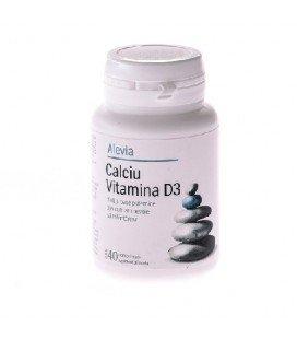 Calciu Vitamina D3 x 40 cp cutie  ALEVIA