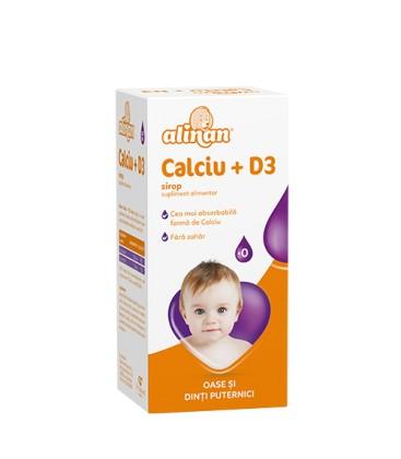 ALINAN Calciu +D3 Baby sirop x 150ml Cutie  FITERMAN