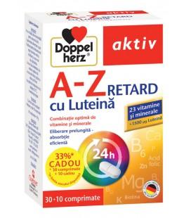 DOPPELHERZ A-Z Retard Luteina x 30tb+10tb cadou