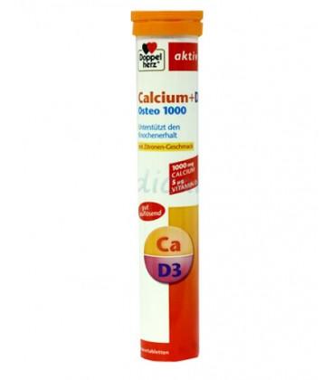 DOPPELHERZ Calciu 1000mg+D3 Osteo 1000 x 15cp.eff