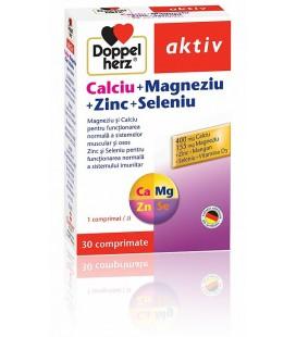 DOPPELHERZ Calciu+magneziu+zinc+seleniu x 30cps